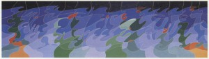 "Fig 2: ""It can't be love"", 1987-1988, olio su tela, cm. 40 x 120"