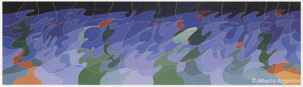 "Fig 3: ""It can't be love"", 1987-1988, olio su tela, cm. 40 x 120"