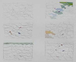 """""""studi"""", 1989, matita e pastello, cm. 29.5 x 21"""