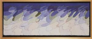 """""""it can't be love"""", 1987, acquarello, cm. 21,3 x 56"""