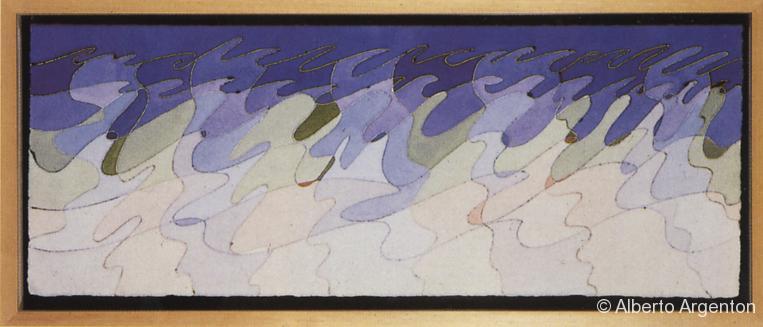 """Fig. 4 """"it can't be love"""", 1987, acquarello, cm. 21,3 x 56"""