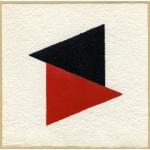 Effetto altalena 021 Red Black, collage, 14,5 x 14,5 ca.