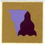 Effetto altalena 023 Lilla Magenta su carta da pesce, collage, 14,5 x 14,5 ca.
