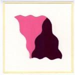 Effetto altalena 023 Rosa Magenta, collage, 14,5 x 14,5 ca.