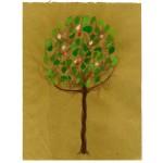 """albero/primavera 002"", 2013, tecnica mista, cm. 30 x 23"