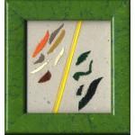 f.f., 2012, pastello, acrilico, collage, 7.5 x 6.8