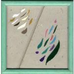 forme che volano, 2012, pastello, acrilico, collage, 15.5 x 15.5 ca
