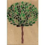 """albero 003"", 2013, tecnica mista, cm. 30 x 23"