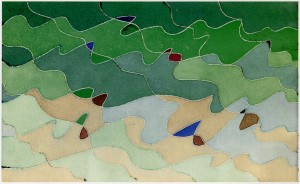 "Fig. 4: ""formentera 3"", 1989, acquarello, cm. 15 x 24.5"