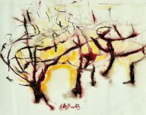 """""""Afgoi"""", 1963, acquarello, cm. 19 x 24"""