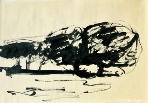 """Afgoi"", 1962, china, cm. 34 x 62"