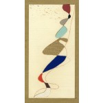 """""""carnevale 2"""", 1989, tecnica mista, cm. 21 x 10.5"""