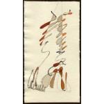 """""""studio per un totem"""", 1986, acquarello, cm. 21.5 x 12"""