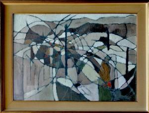 """""""rovo"""", 1959, olio su tela, cm. 51x71"""