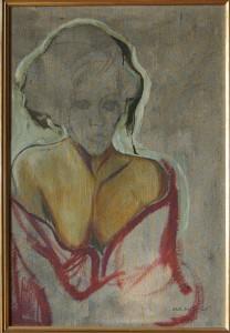 """""""L."""", 1963, olio su tela, cm. 57 x 39"""
