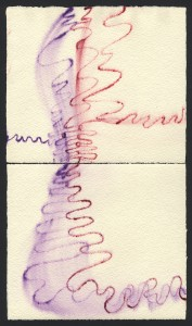 """""""Senza titolo"""", s.d. acquarello, cm. 14 x 16.4 x 2"""