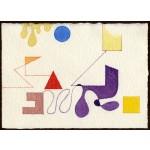 """""""studio per i 4 elementi"""", 2000, pastello e acquarello, cm. 12.8 x 18"""