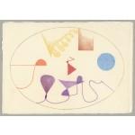 """studio per i 4 elementi"", 2000, pastello, cm. 14.5 x 20.8"