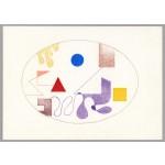 """studio per i 4 elementi"", 2000, pastello, cm. 18 x 24.8"