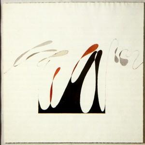 """assolo"", 1983, acquarello, cm. 53.5 x 53.5 ca"
