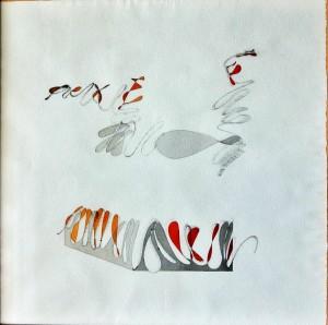 """""""corda pazza"""", 1986, acquarello, cm. 48 x 48"""