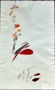 """""""capriccio"""", 1984, acquarello, cm. 69 x 4"""
