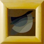 """""""diavoletto"""", 2001, olio su tela, cm. 15 x 15"""