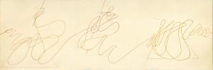 """""""studio per omaggio a Paolo Uccello"""", s.d., pastello, cm. 21 x 63"""