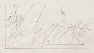 """""""studio per Paolo Uccello"""", 1985, matita, cm. 21 x 29 ca."""