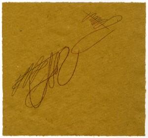 """""""studio per Paolo Uccello"""", 1986, pastello su carta da pesce, cm. 20.7 x 22"""