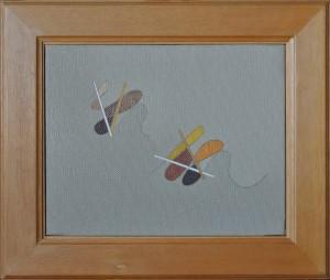 """""""frammento"""", s.d., olio su tela, cm. 24 x 30"""
