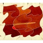 """racconto"", 1985-6, acquarello, cm. 15 x 18"