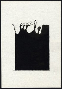 """evento"", 1982, acquarello, cm. 36 x 25"