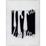 """""""q di v 000 III variazione"""", 1982, china, pennarello, cm. 19 x 14"""