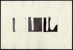 """""""studio per 'eventi'"""", 1982, acquarello, cm. 25 x 36"""