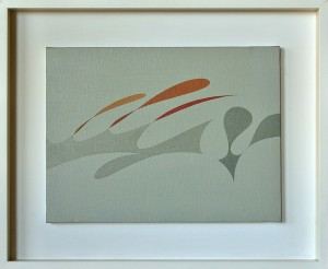 """favola"", 1983, olio su tela, cm. 30 x 40"