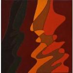 """""""studio"""", 1987, olio su tela, cm. 15 x 15"""