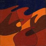 """""""particolare"""", 1987, olio su tela, cm. 15 x 15"""