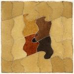 """""""studio per un racconto - variazione"""", 1988-9, acquarello, cm. 13.5 x 13.5"""