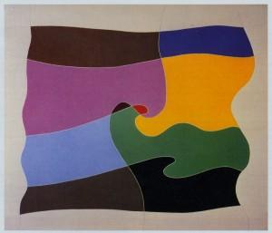 """racconto"", 1988, olio su tela, cm. 60 x 70"