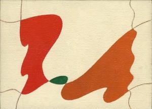 """canzone amorosa"", 1988 ca., olio su tela, cm. 13 x 18"