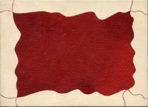 """racconto"", 1988 ca., olio su tela, cm. 13 x 18"