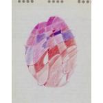 """studio"", 1988, pastello, cm. 21 x 17"