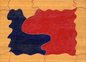 """racconto"", 1988 ca., olio su tavola, cm. 13 x 18"