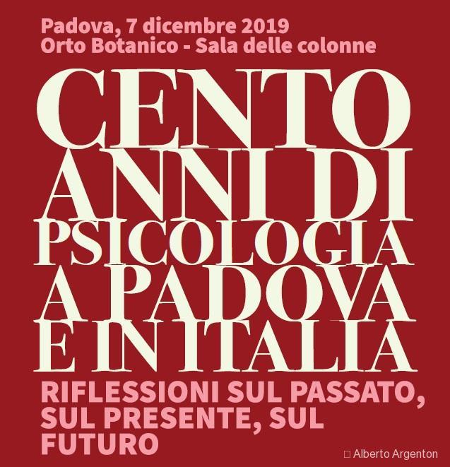Cento anni di Psicologia a Padova