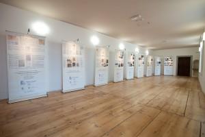 Allestimento della Mostra nella Sala espositiva del Monastero di Santa Maria in Valle
